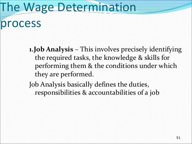an analysis of the wage determination methods Wage determination process review of organization strategy devising compensation policy job analysis & evaluation methods of wage payment and incentives.
