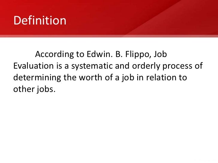 Compensation Management  Job Evaluation