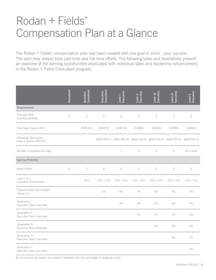 Compensation Plan At A Glance