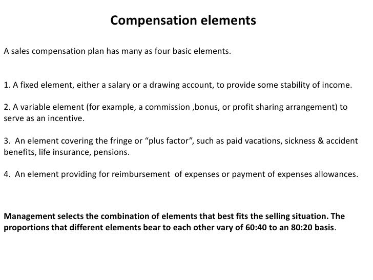 Compensation Plan Ppt