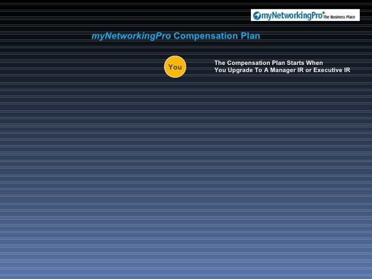 myNetworkingPro  Compensation Plan You The Compensation Plan Starts When  You Upgrade To A Manager IR or Executive IR