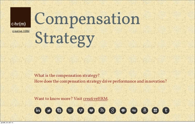 creative HRM Compensation Strategy What is the compensation strategy? How does the compensation strategy drive performance...