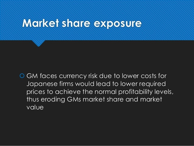 General Motors Competitive Exposure Essay Sample