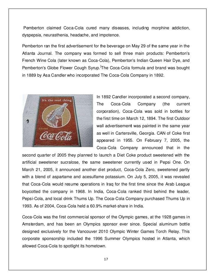 Competative study between coke vs. pepsi
