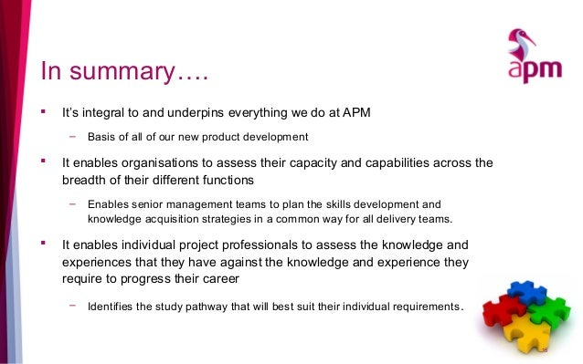 In summary….  It's integral to and underpins everything we do at APM – Basis of all of our new product development  It e...