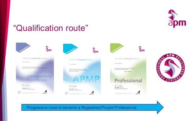 """""""Qualification route"""" Progressive route to become a Registered Project Professional"""
