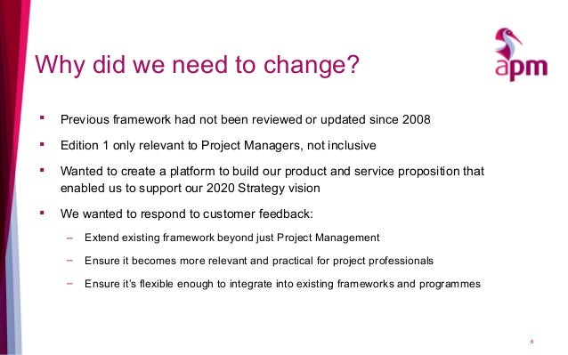 Why did we need to change?  Previous framework had not been reviewed or updated since 2008  Edition 1 only relevant to P...