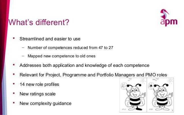 What's different?  Streamlined and easier to use – Number of competences reduced from 47 to 27 – Mapped new competence to...