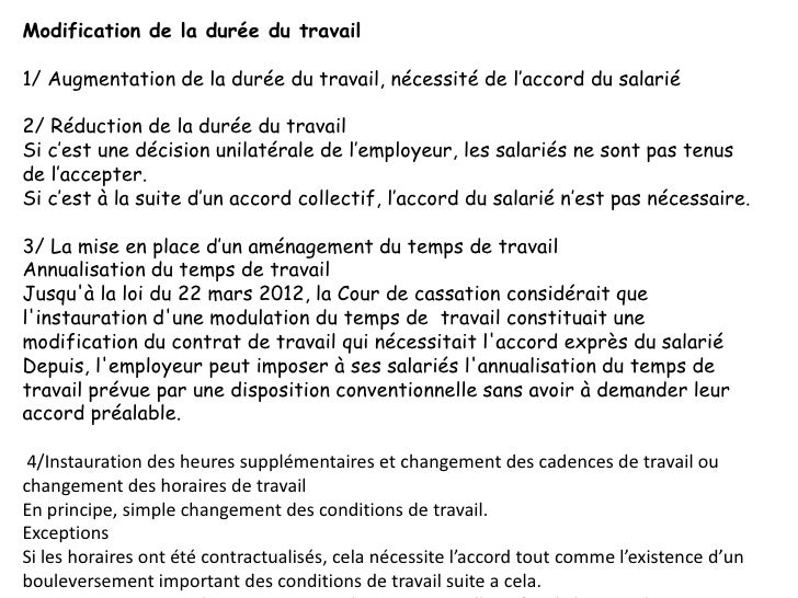 Competence rh modification du contrat de travail