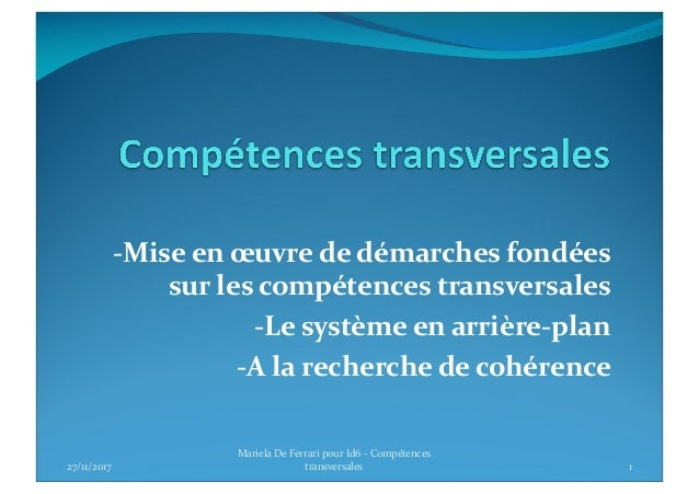 competences transversales m deferrari
