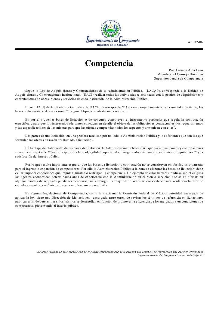 Art. 32-06                                                          Competencia                                           ...