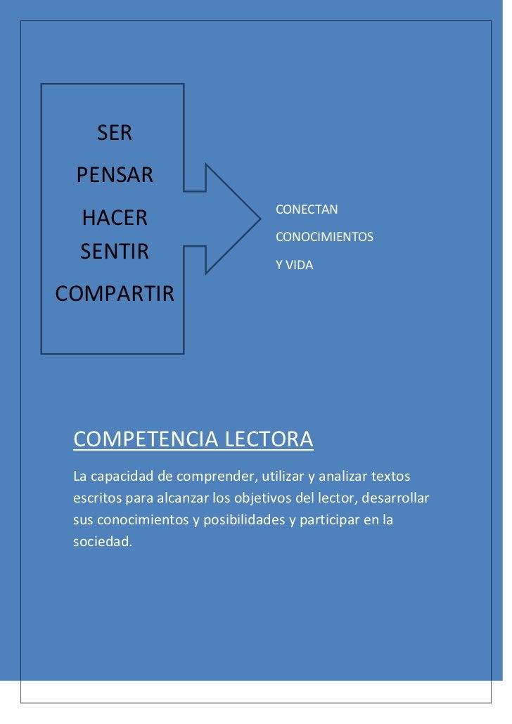 SER PENSAR                                   CONECTAN  HACER                                   CONOCIMIENTOS  SENTIR      ...