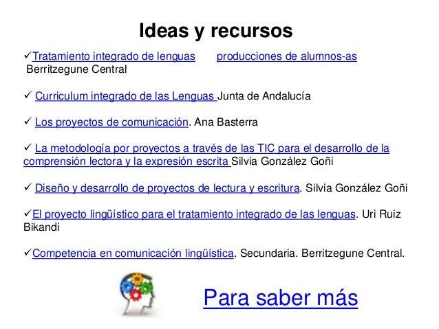 Tratamiento integrado de lenguas producciones de alumnos-as Berritzegune Central  Curriculum integrado de las Lenguas Ju...