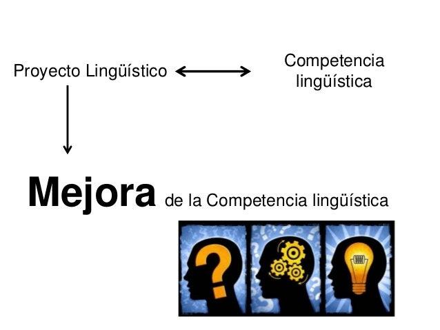 Proyecto Lingüístico Competencia lingüística Mejora de la Competencia lingüística