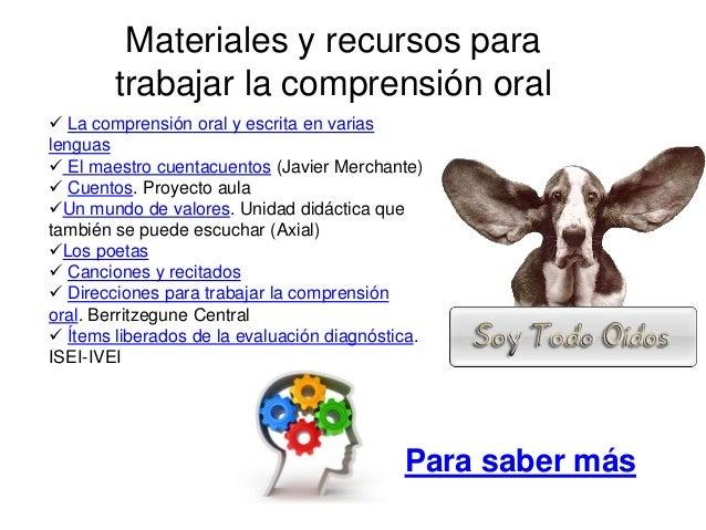  La comprensión oral y escrita en varias lenguas  El maestro cuentacuentos (Javier Merchante)  Cuentos. Proyecto aula ...