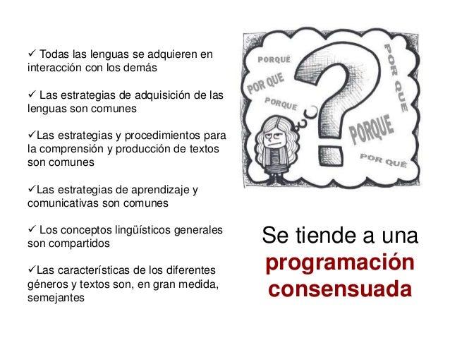 Todas las lenguas se adquieren en interacción con los demás  Las estrategias de adquisición de las lenguas son comunes ...