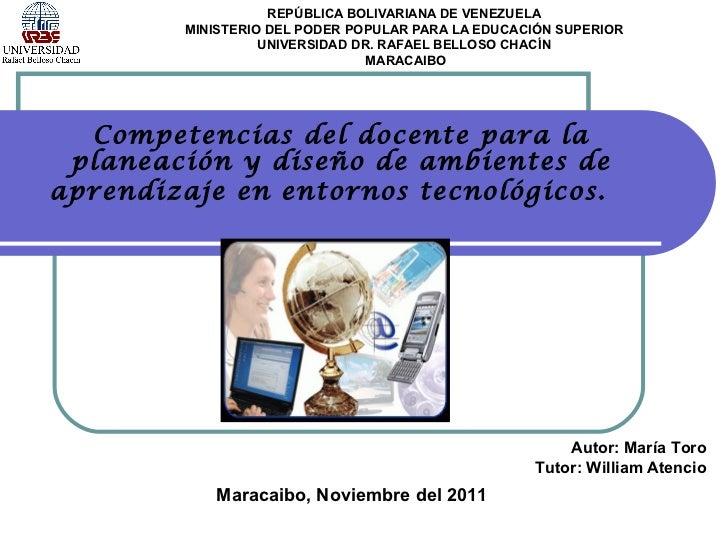 REPÚBLICA BOLIVARIANA DE VENEZUELA MINISTERIO DEL PODER POPULAR PARA LA EDUCACIÓN SUPERIOR UNIVERSIDAD DR. RAFAEL BELLOSO ...