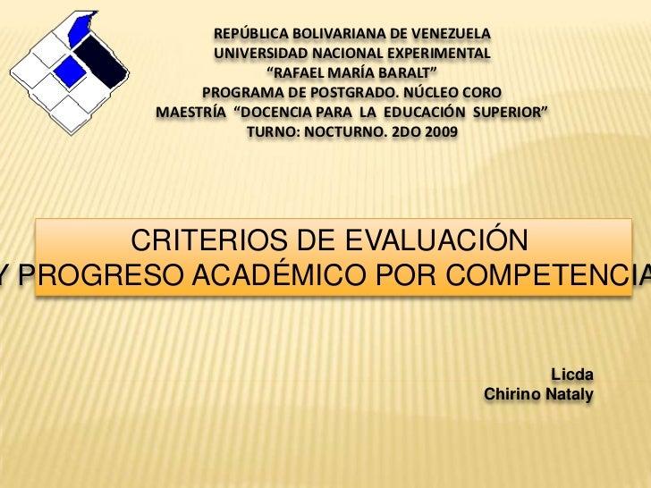 """REPÚBLICA BOLIVARIANA DE VENEZUELA              UNIVERSIDAD NACIONAL EXPERIMENTAL                     """"RAFAEL MARÍA BARALT..."""