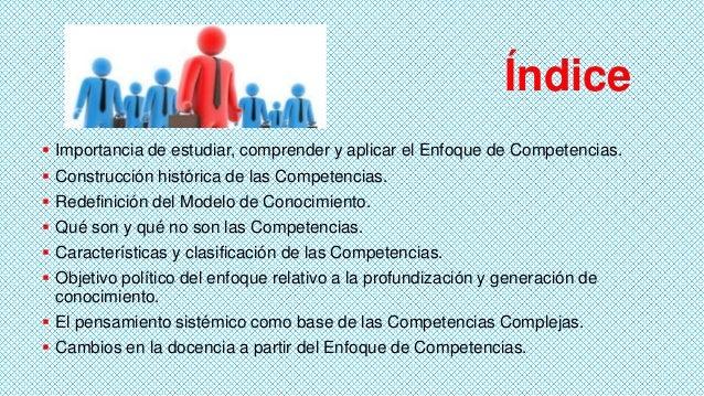 Índice  Importancia de estudiar, comprender y aplicar el Enfoque de Competencias.  Construcción histórica de las Compete...