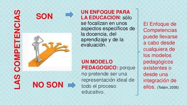 LAS COMPETENCIAS  SON  NO SON  UN ENFOQUE PARA LA EDUCACION: sólo se focalizan en unos aspectos específicos de la docencia...