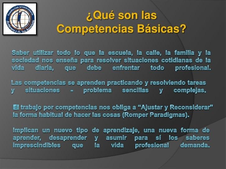 Competencias básicas Slide 2