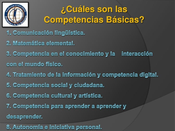 Competencias básicas Slide 3