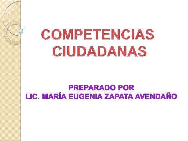 Se refieren a la información que debes saber y comprender acerca del ejercicio de la ciudadanía.