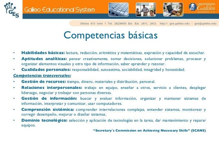Competencias, Destrezas Y Habilidades Slide 3