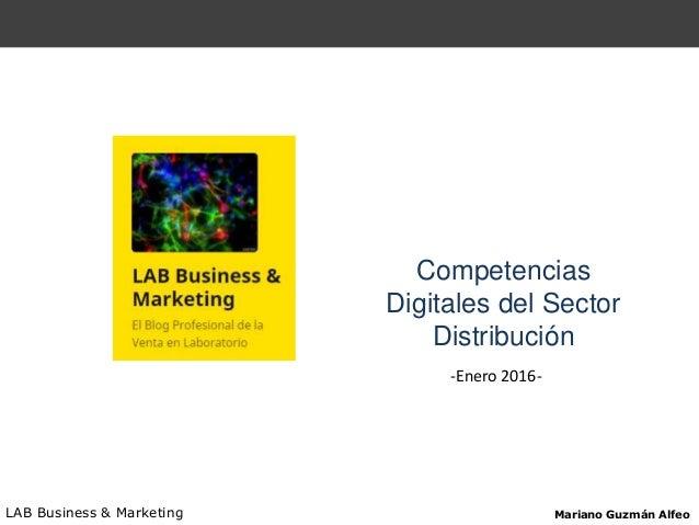 Competencias Digitales del Sector Distribución LAB Business & Marketing Mariano Guzmán Alfeo -Enero 2016-