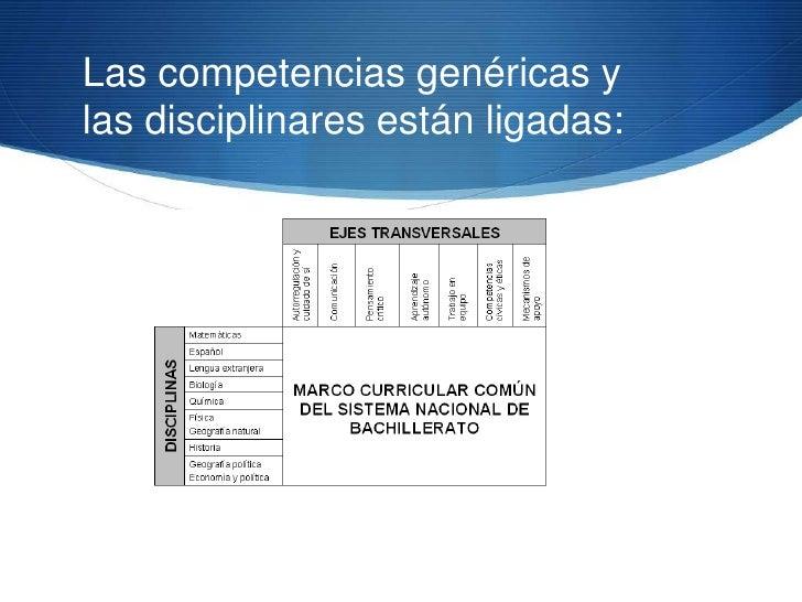 Competencias disciplinaresS Conocimientos, habilidades y actitudes asociados con las  disciplinas en las que tradicionalme...