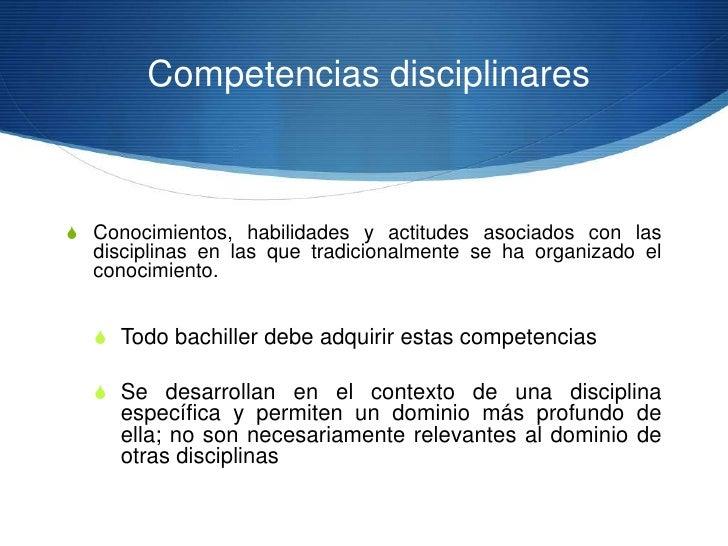 Competencias disciplinaresS Desempeños disciplinares básicos organizados en cuatro  campos de conocimiento: matemáticas, c...