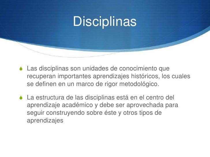 Organización                              DISCIPLINAS DE LAS                        DISCIPLINAS DE LASCAMPOS DEL CONOCIMIE...