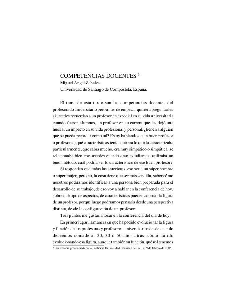 LA UNIVERSIDAD Y LA DOCENCIA                                  EN EL MUNDO DE HOY        COMPETENCIAS DOCENTES 6        Mig...