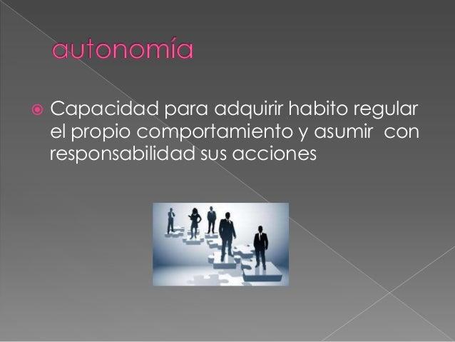    Capacidad para trabajar en    cooperación con otros y ser parte de un    grupo con el fin de lograr objetivos    comun...