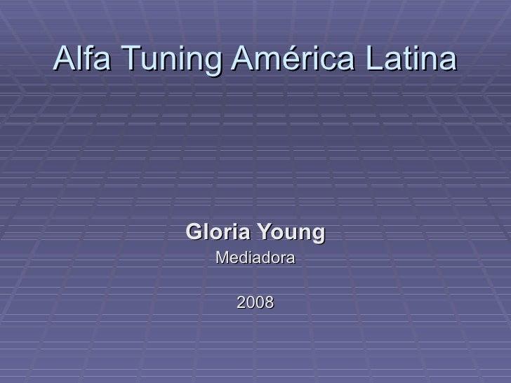 Alfa Tuning América Latina        Gloria Young          Mediadora            2008