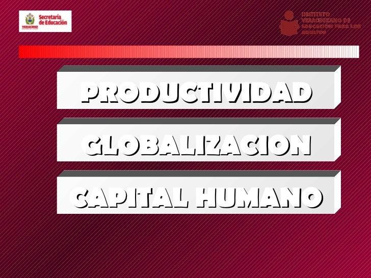 PRODUCTIVIDADGLOBALIZACIONCAPITAL HUMANO