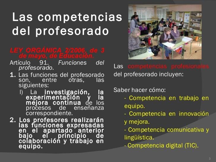 Competencias profesionales docentes Slide 3
