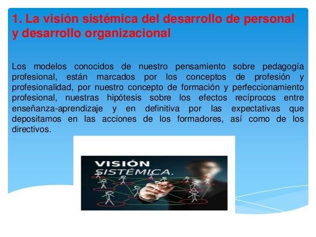 1. La visión sistémica del desarrollo de personaly desarrollo organizacionalLos modelos conocidos de nuestro pensamiento s...