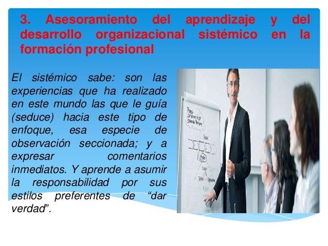 3. Asesoramiento del aprendizaje      y del desarrollo organizacional sistémico   en la formación profesionalEl sistémico ...