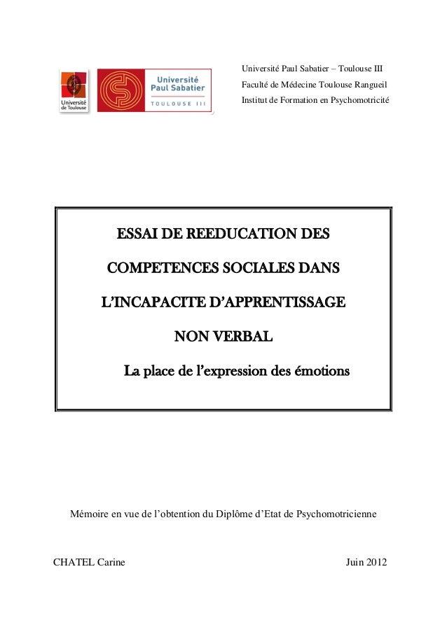 Université Paul Sabatier – Toulouse III                                         Faculté de Médecine Toulouse Rangueil     ...