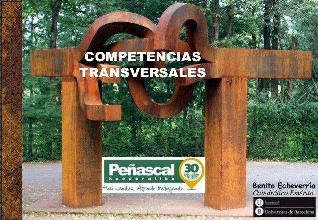 Benito Echeverría Catedrático Emérito COMPETENCIAS TRANSVERSALES