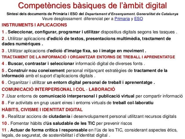 INSTRUMENTS I APLICACIONS 1 . Seleccionar, configurar, programar i utilitzar dispositius digitals segons les tasques . 2 ....