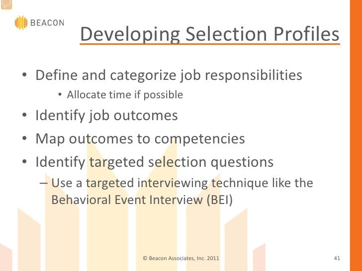 targeted selection interview questions and answers