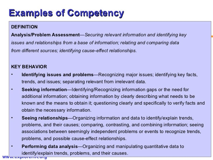 Competency based hr management – Competency Assessment Template