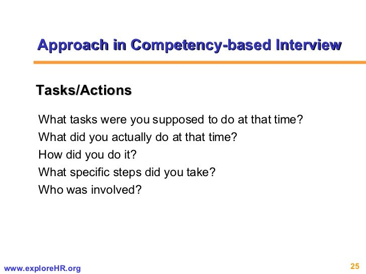 What tasks were you supposed to do at that time?  What did you actually do at that time?  How did you do it? What specific...