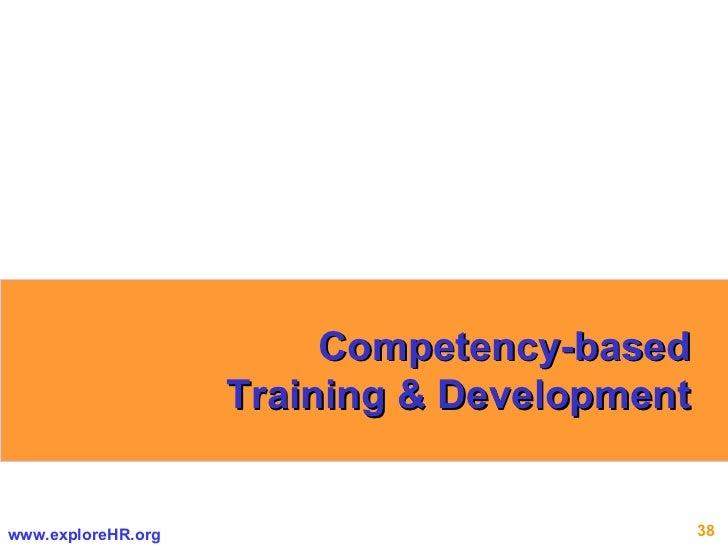 Competency-based Training & Development