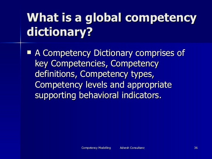 Competency mapping and performance management