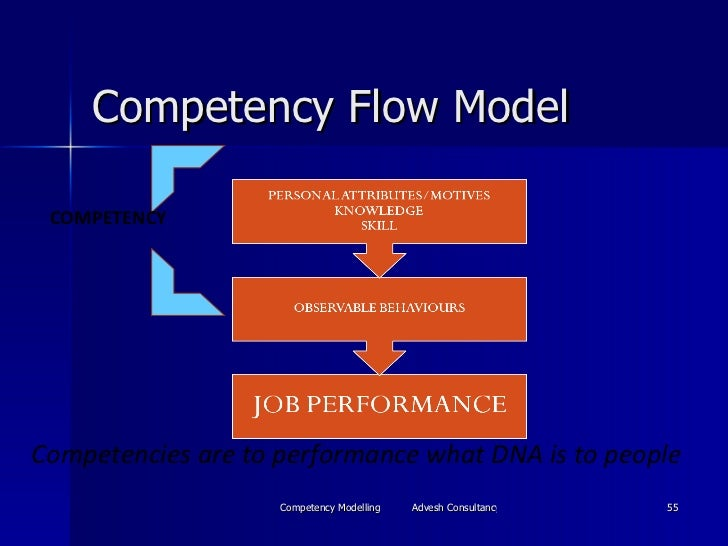Competency Flow Model COMPETENCY Competencies are to performance what DNA is to people