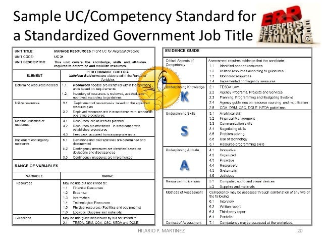 Competency Assessment System for the Philippine Civil Service – Competency Assessment Template