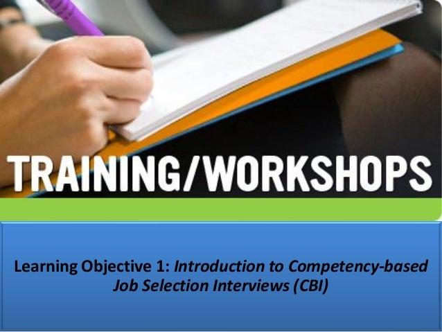 Competency based Job Selection Interviewing_CBI_Skills Slide 3